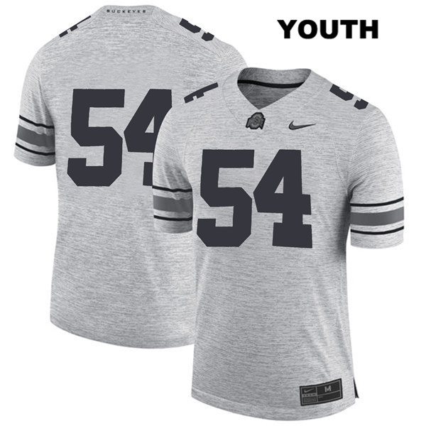 Matthew Jones Youth Nike Gray Ohio State Buckeyes Authentic Stitched no. 54 College Football Jersey - Without Name - Matthew Jones Jersey