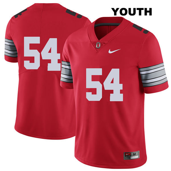 Matthew Jones 2018 Spring Game Youth Red Stitched Ohio State Buckeyes Nike Authentic no. 54 College Football Jersey - Without Name - Matthew Jones Jersey
