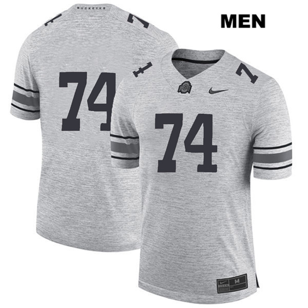 Max Wray Nike Mens Gray Stitched Ohio State Buckeyes Authentic no. 74 College Football Jersey - Without Name - Max Wray #74 Jersey