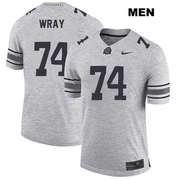 Max Wray Mens Stitched Gray Ohio State Buckeyes Authentic Nike no. 74 College Football Jersey - Max Wray #74 Jersey