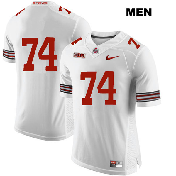 Max Wray Nike Mens White Ohio State Buckeyes Authentic Stitched no. 74 College Football Jersey - Without Name - Max Wray #74 Jersey