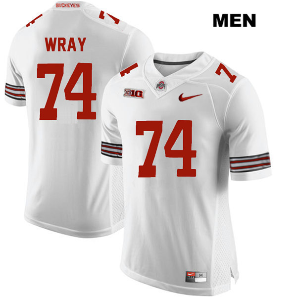 Max Wray Mens Nike White Ohio State Buckeyes Stitched Authentic no. 74 College Football Jersey - Max Wray #74 Jersey