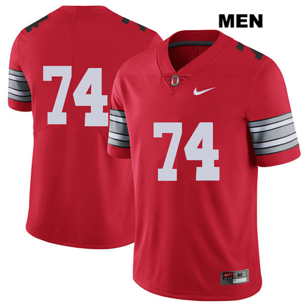 Max Wray Mens Nike Red Stitched Ohio State Buckeyes Authentic 2018 Spring Game no. 74 College Football Jersey - Without Name - Max Wray #74 Jersey