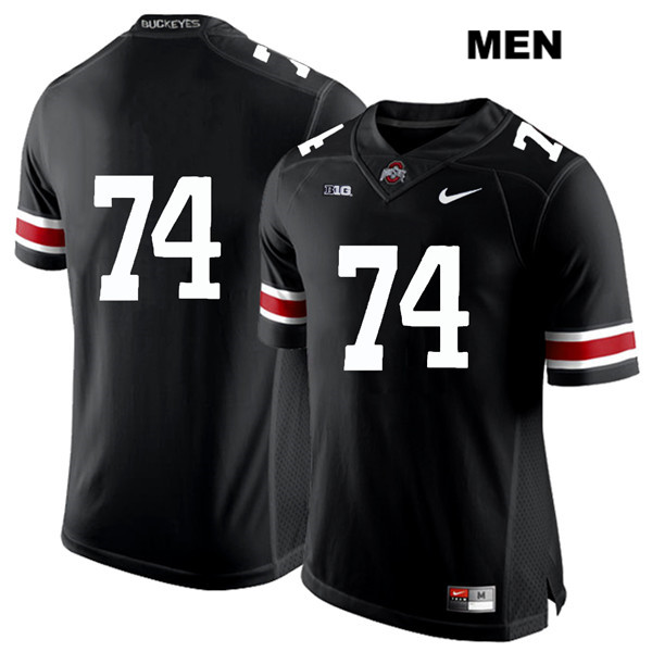 Max Wray White Font Mens Black Ohio State Buckeyes Stitched Authentic Nike no. 74 College Football Jersey - Without Name - Max Wray #74 Jersey