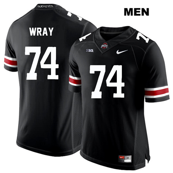 Max Wray Mens White Font Black Stitched Ohio State Buckeyes Nike Authentic no. 74 College Football Jersey - Max Wray #74 Jersey