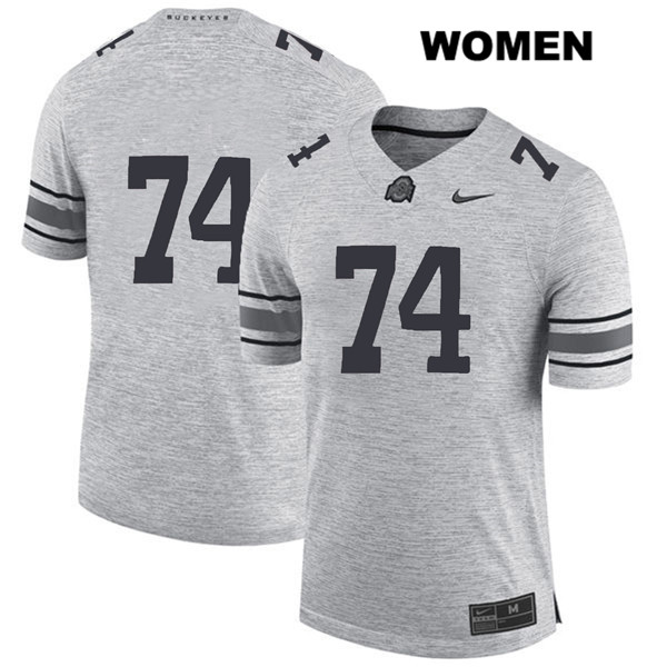 Nike Max Wray Womens Stitched Gray Ohio State Buckeyes Authentic no. 74 College Football Jersey - Without Name - Max Wray #74 Jersey
