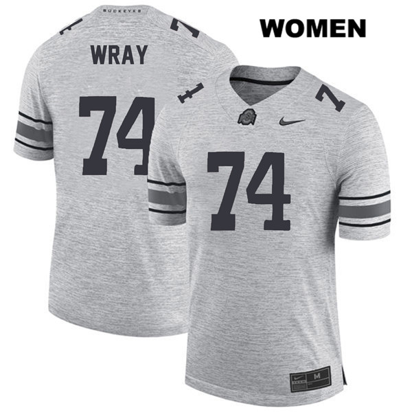Max Wray Womens Gray Stitched Ohio State Buckeyes Nike Authentic no. 74 College Football Jersey - Max Wray #74 Jersey