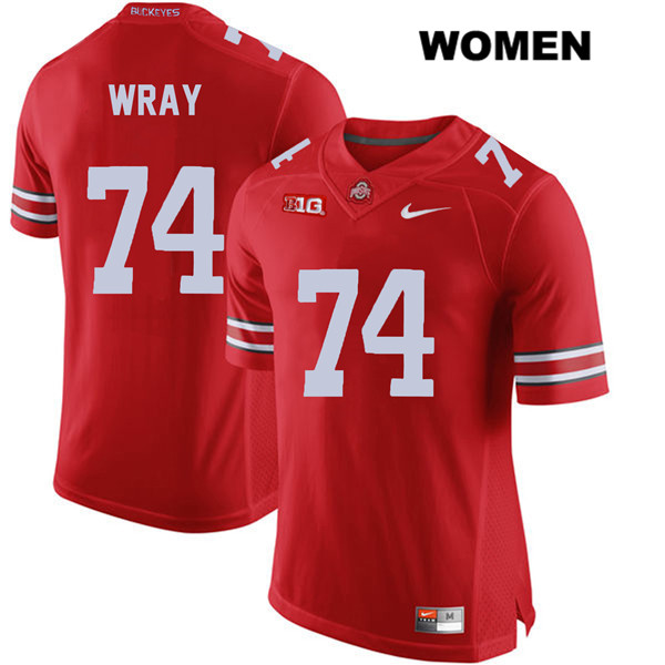 Max Wray Womens Red Ohio State Buckeyes Nike Stitched Authentic no. 74 College Football Jersey - Max Wray #74 Jersey