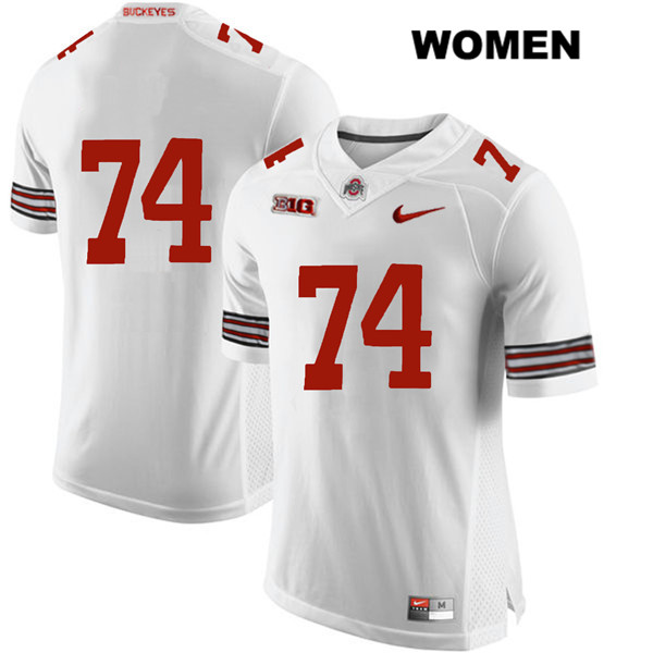 Max Wray Womens Stitched White Ohio State Buckeyes Authentic Nike no. 74 College Football Jersey - Without Name - Max Wray #74 Jersey