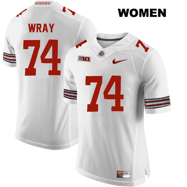 Max Wray Womens White Nike Ohio State Buckeyes Stitched Authentic no. 74 College Football Jersey - Max Wray #74 Jersey