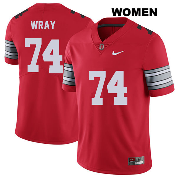 Max Wray Womens 2018 Spring Game Red Stitched Ohio State Buckeyes Nike Authentic no. 74 College Football Jersey - Max Wray #74 Jersey