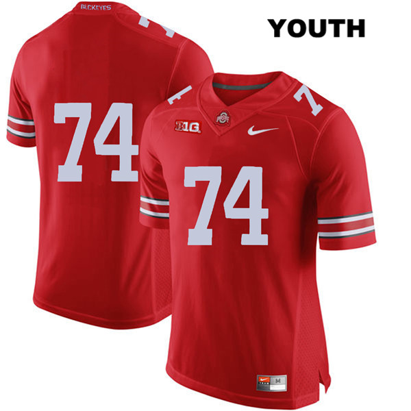 Max Wray Stitched Youth Red Nike Ohio State Buckeyes Authentic no. 74 College Football Jersey - Without Name - Max Wray #74 Jersey