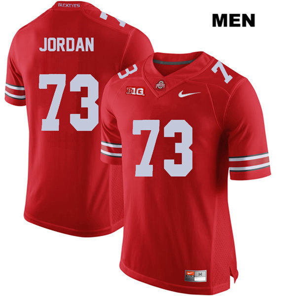 Michael Jordan Nike Mens Stitched Red Ohio State Buckeyes Authentic no. 73 College Football Jersey - Michael Jordan Jersey