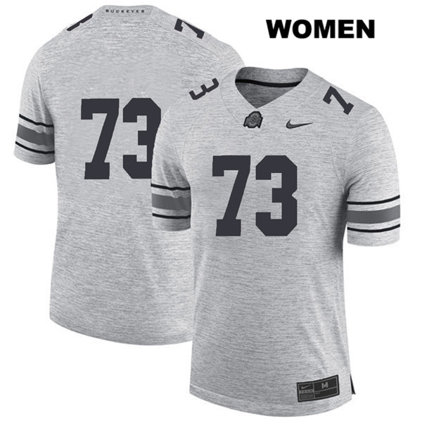 Michael Jordan Womens Stitched Gray Nike Ohio State Buckeyes Authentic no. 73 College Football Jersey - Without Name - Michael Jordan Jersey
