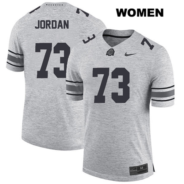 Michael Jordan Womens Gray Nike Ohio State Buckeyes Stitched Authentic no. 73 College Football Jersey - Michael Jordan Jersey