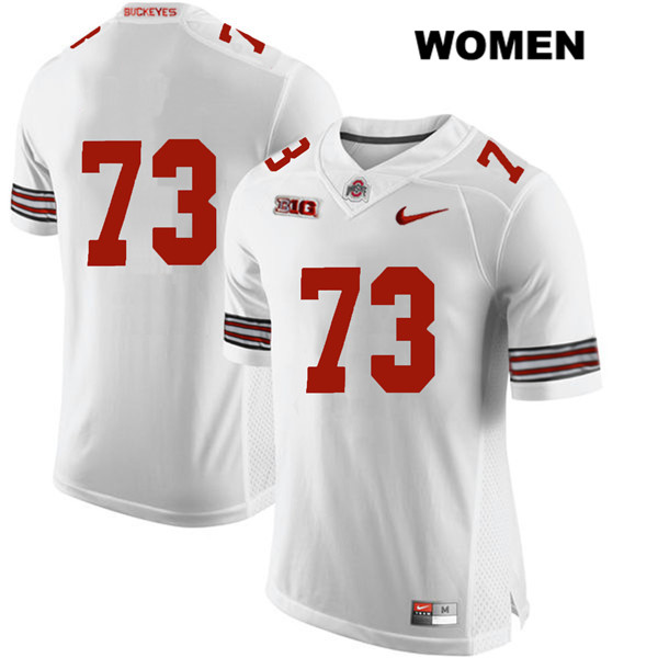 Michael Jordan Womens Nike Stitched White Ohio State Buckeyes Authentic no. 73 College Football Jersey - Without Name - Michael Jordan Jersey