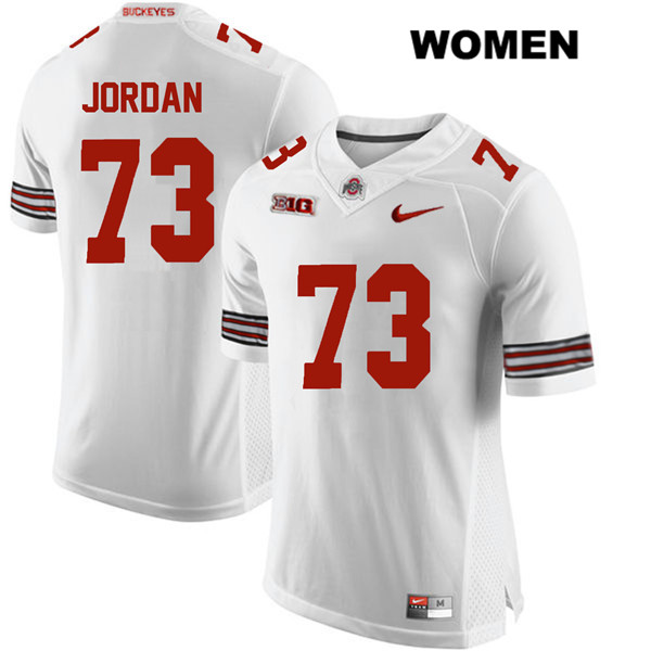 Michael Jordan Stitched Womens White Nike Ohio State Buckeyes Authentic no. 73 College Football Jersey - Michael Jordan Jersey