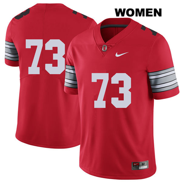 Michael Jordan 2018 Spring Game Womens Nike Red Stitched Ohio State Buckeyes Authentic no. 73 College Football Jersey - Without Name - Michael Jordan Jersey