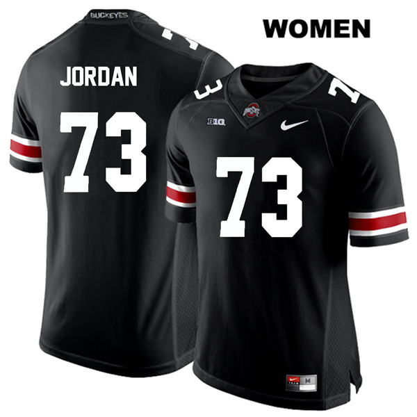 Michael Jordan White Font Womens Black Nike Ohio State Buckeyes Stitched Authentic no. 73 College Football Jersey - Michael Jordan Jersey