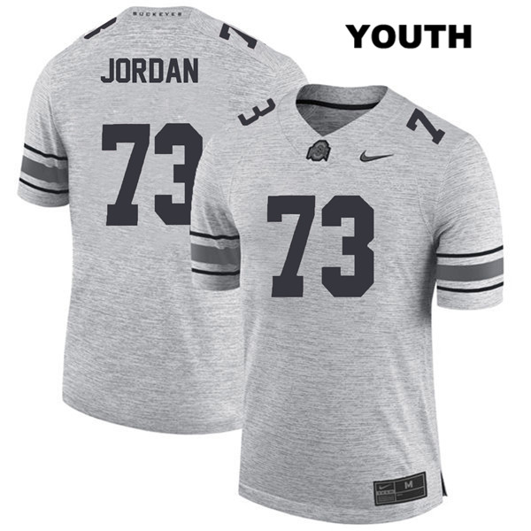 Michael Jordan Youth Gray Stitched Ohio State Buckeyes Authentic Nike no. 73 College Football Jersey - Michael Jordan Jersey