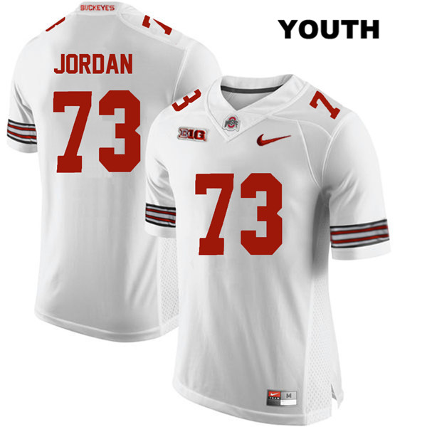 Michael Jordan Youth White Ohio State Buckeyes Stitched Authentic Nike no. 73 College Football Jersey - Michael Jordan Jersey