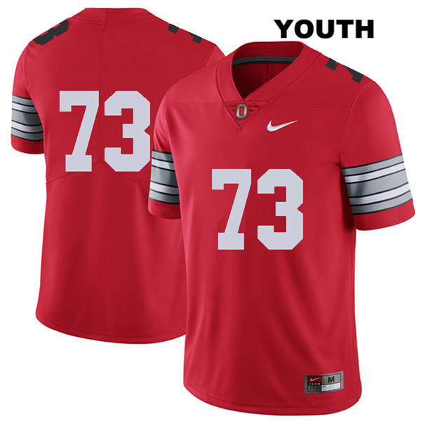 Michael Jordan Youth Stitched Red Nike Ohio State Buckeyes Authentic 2018 Spring Game no. 73 College Football Jersey - Without Name - Michael Jordan Jersey
