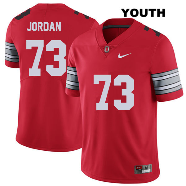 2018 Spring Game Michael Jordan Youth Nike Red Stitched Ohio State Buckeyes Authentic no. 73 College Football Jersey - Michael Jordan Jersey