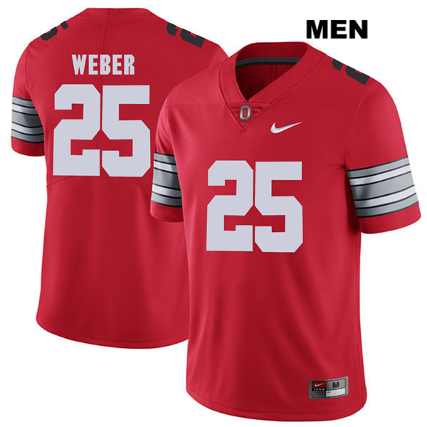 2018 Spring Game Mike Weber Mens Red Nike Ohio State Buckeyes Authentic Stitched no. 25 College Football Jersey - Mike Weber Jersey