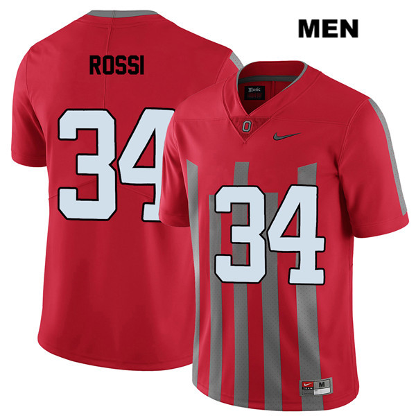 Elite Mitch Rossi Nike Mens Red Ohio State Buckeyes Stitched Authentic no. 34 College Football Jersey - Mitch Rossi Jersey