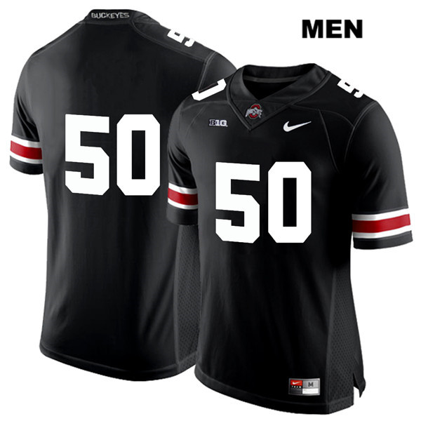 Nathan Brock White Font Mens Black Ohio State Buckeyes Nike Stitched Authentic no. 50 College Football Jersey - Without Name - Nathan Brock Jersey