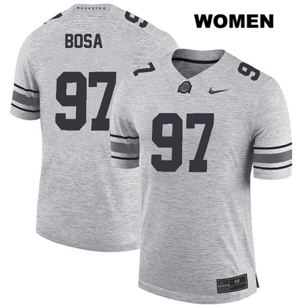 Nick Bosa Womens Gray Nike Ohio State Buckeyes Authentic Stitched no. 97 College Football Jersey