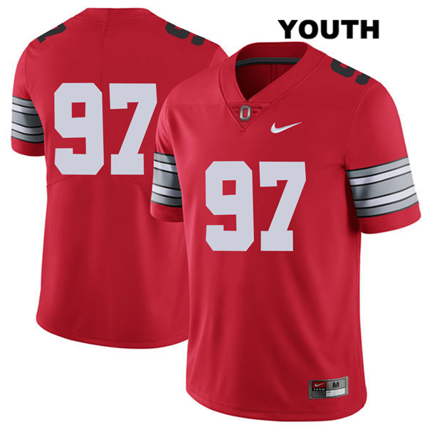0dc22b37b72 2018 Spring Game Nick Bosa Youth Red Ohio State Buckeyes Stitched Nike  Authentic no. 97 College Football Jersey - Without Name