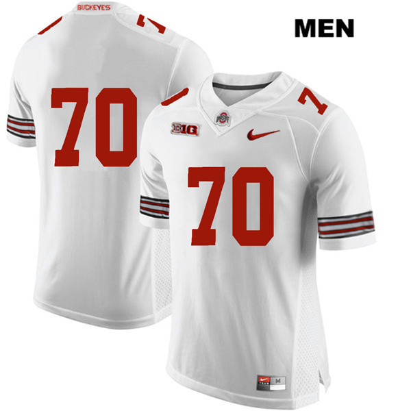 Nike Noah Donald Mens Stitched White Ohio State Buckeyes Authentic no. 70 College Football Jersey - Without Name - Noah Donald Jersey