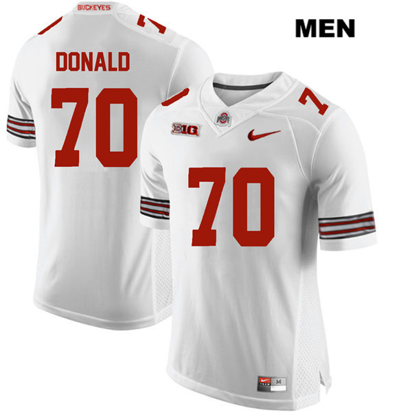 Noah Donald Mens White Stitched Ohio State Buckeyes Nike Authentic no. 70 College Football Jersey - Noah Donald Jersey