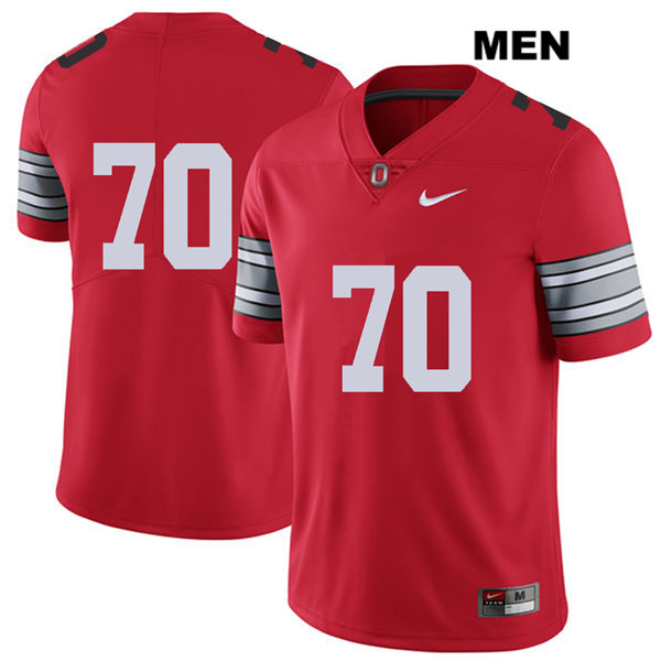 2018 Spring Game Noah Donald Mens Stitched Red Ohio State Buckeyes Authentic Nike no. 70 College Football Jersey - Without Name - Noah Donald Jersey