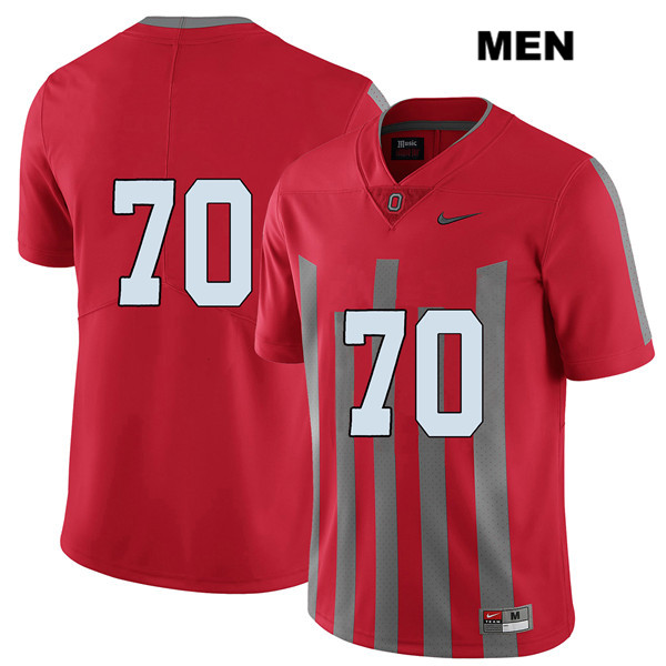 Noah Donald Stitched Mens Red Elite Ohio State Buckeyes Nike Authentic no. 70 College Football Jersey - Without Name - Noah Donald Jersey
