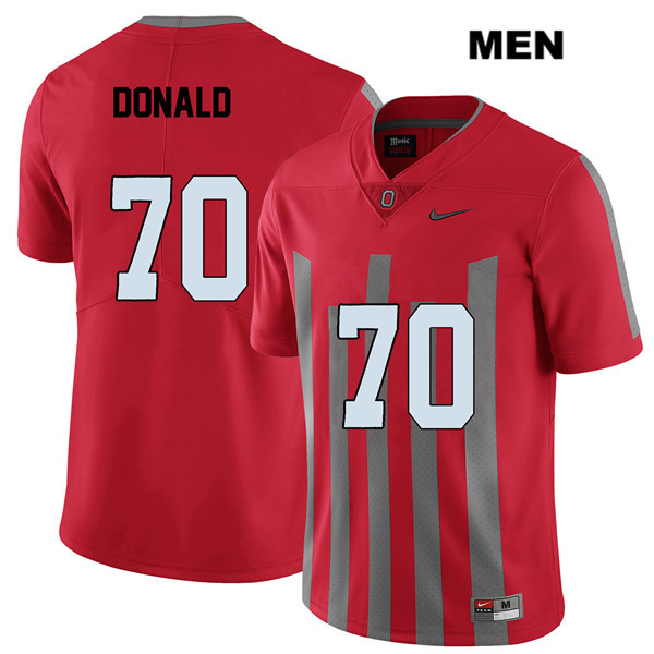 Noah Donald Stitched Elite Mens Nike Red Ohio State Buckeyes Authentic no. 70 College Football Jersey - Noah Donald Jersey