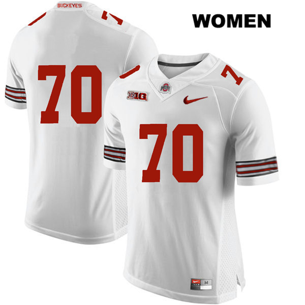 Noah Donald Stitched Womens Nike White Ohio State Buckeyes Authentic no. 70 College Football Jersey - Without Name - Noah Donald Jersey