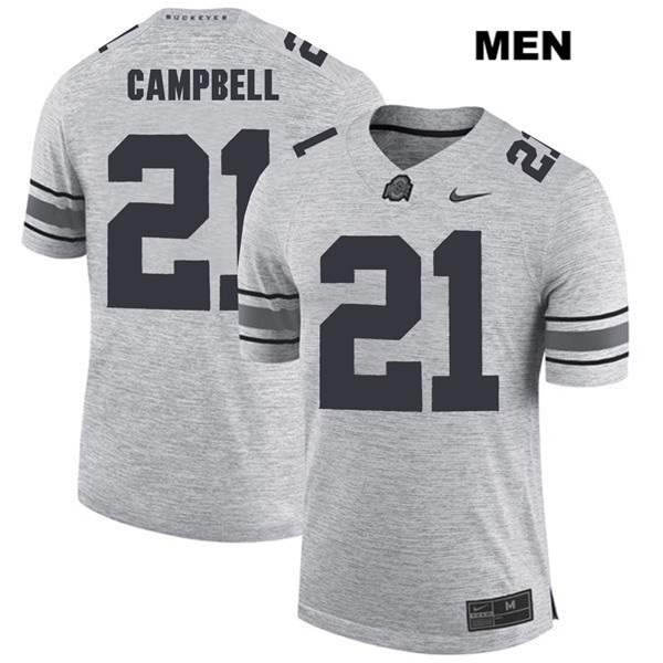 Parris Campbell Mens Nike Gray Ohio State Buckeyes Stitched Authentic no. 21 College Football Jersey - Parris Campbell Jersey