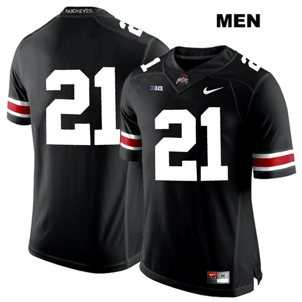 Parris Campbell White Font Mens Stitched Black Ohio State Buckeyes Nike Authentic no. 21 College Football Jersey - Without Name - Parris Campbell Jersey