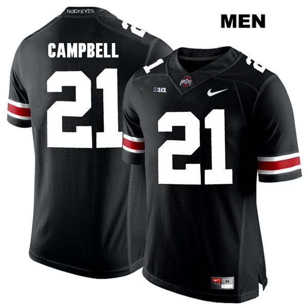 Parris Campbell White Font Mens Nike Black Stitched Ohio State Buckeyes Authentic no. 21 College Football Jersey - Parris Campbell Jersey