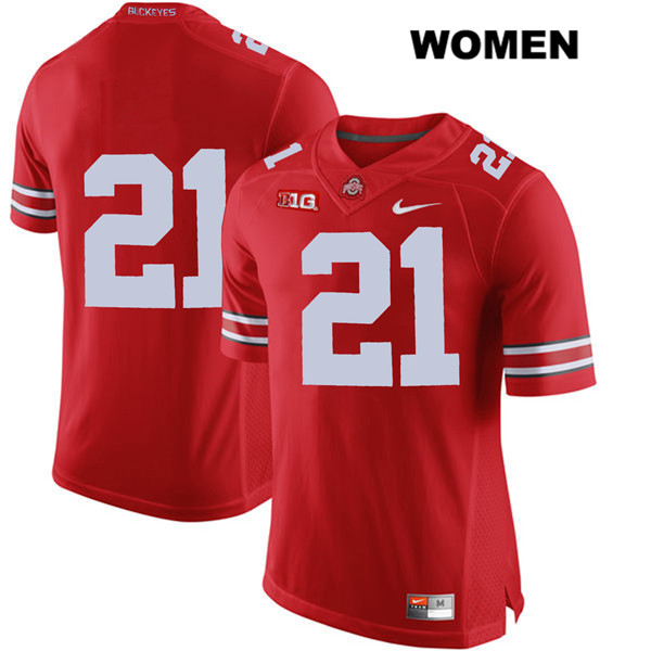 Parris Campbell Womens Stitched Red Ohio State Buckeyes Nike Authentic no. 21 College Football Jersey - Without Name - Parris Campbell Jersey