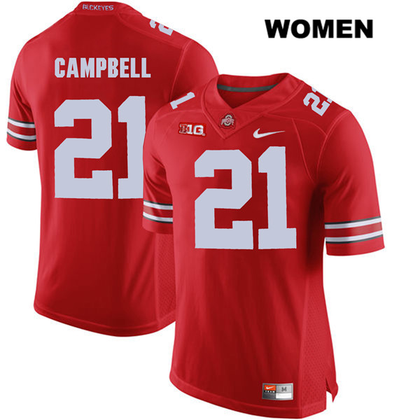 Parris Campbell Stitched Womens Red Ohio State Buckeyes Authentic Nike no. 21 College Football Jersey - Parris Campbell Jersey
