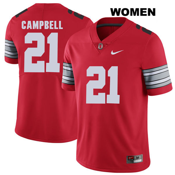 Parris Campbell 2018 Spring Game Stitched Womens Nike Red Ohio State Buckeyes Authentic no. 21 College Football Jersey - Parris Campbell Jersey