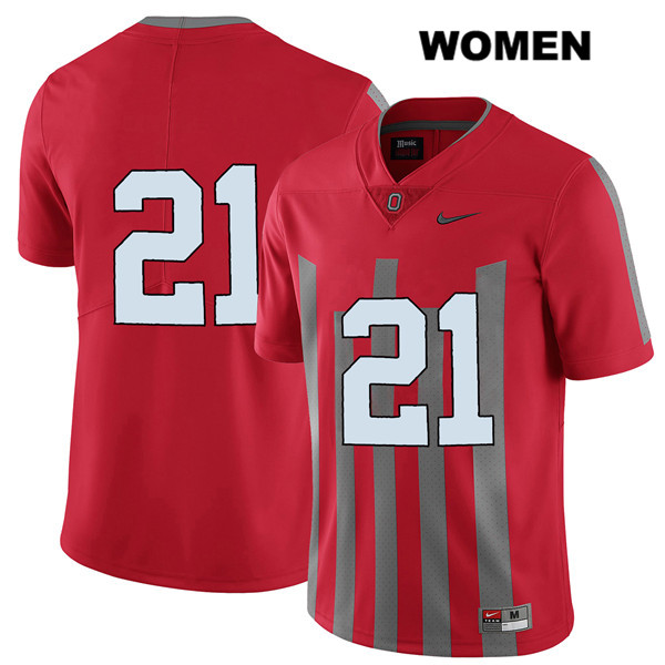 Parris Campbell Nike Womens Red Elite Ohio State Buckeyes Authentic Stitched no. 21 College Football Jersey - Without Name - Parris Campbell Jersey
