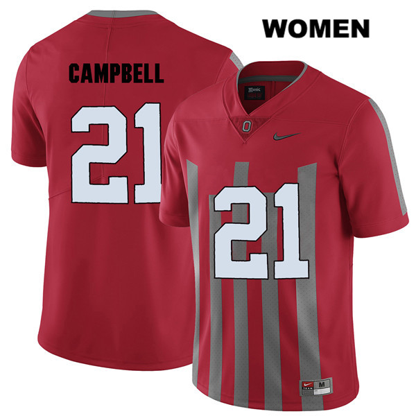 Parris Campbell Stitched Womens Elite Red Ohio State Buckeyes Nike Authentic no. 21 College Football Jersey - Parris Campbell Jersey