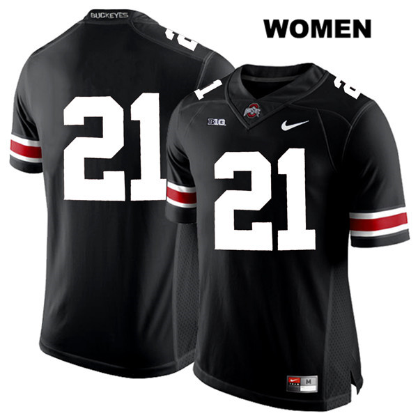 Nike Parris Campbell Womens Black Ohio State Buckeyes White Font Authentic Stitched no. 21 College Football Jersey - Without Name - Parris Campbell Jersey