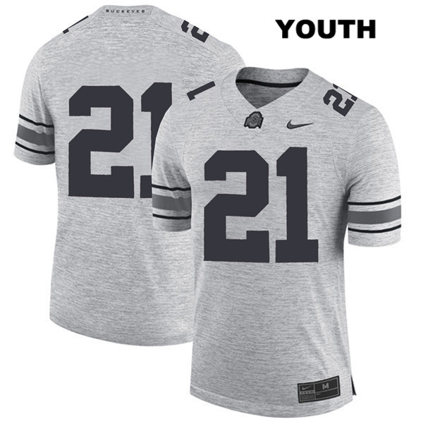 Parris Campbell Stitched Youth Nike Gray Ohio State Buckeyes Authentic no. 21 College Football Jersey - Without Name - Parris Campbell Jersey