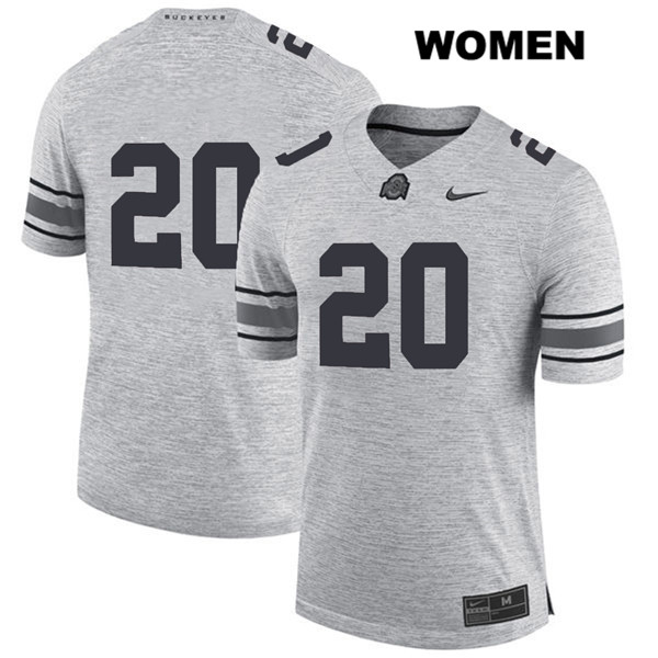 Pete Werner Womens Stitched Gray Nike Ohio State Buckeyes Authentic no. 20 College Football Jersey - Without Name - Pete Werner Jersey