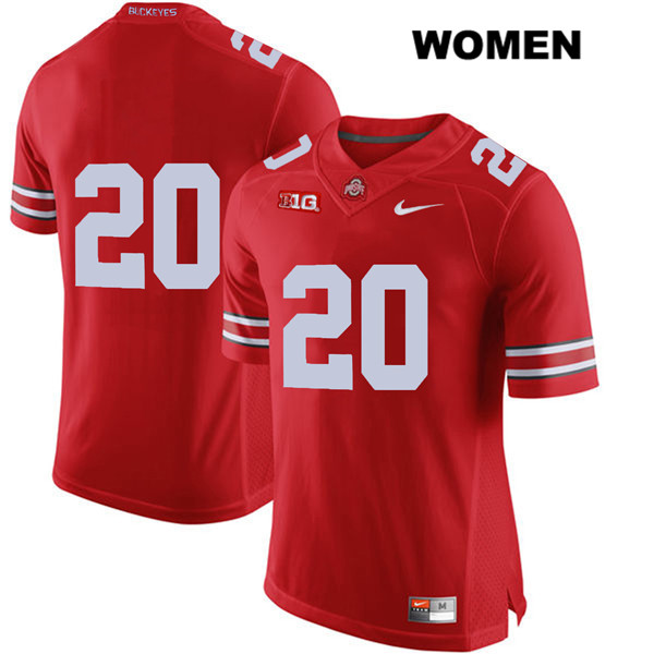 Pete Werner Womens Red Stitched Ohio State Buckeyes Authentic Nike no. 20 College Football Jersey - Without Name - Pete Werner Jersey